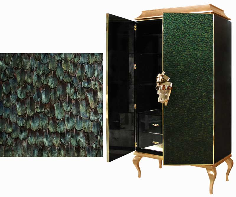 divine-armoire-iridescent-peacock-feathers